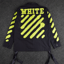 2016 new fashion Off white Justin Bieber gd Green twill red autumn medium-long jacket outerwear men clothing