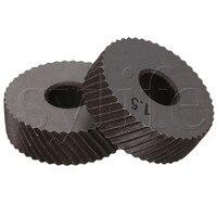 2 x עמיד HSS אלכסוני גס לינארי Knurl 1.5mm המגרש יחיד גלגל 26mm Dia wheel hub dia flowerswheels 7 -