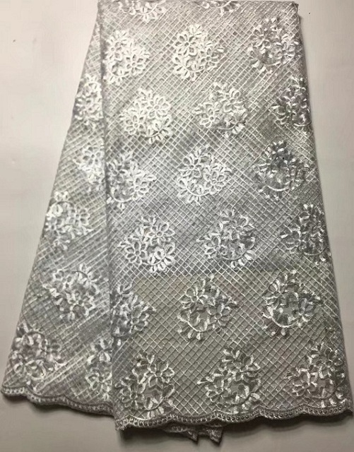 French African Mesh Lace Fabric With Stones In Silver Indian Guipure Net  Lace Flower Embroidered Swiss 543c669baf47