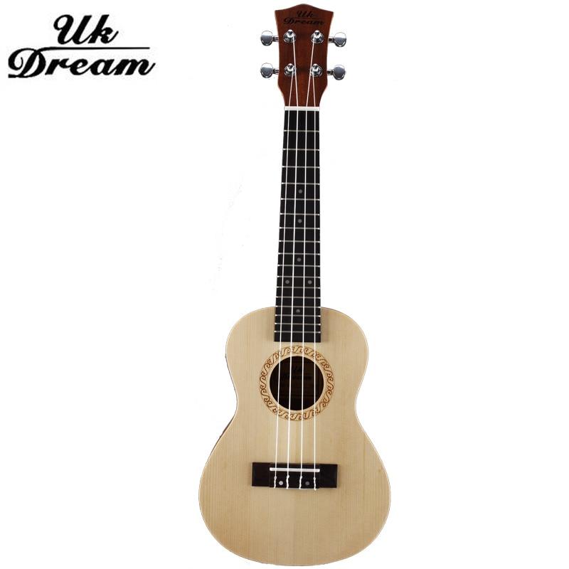 ФОТО 23 Inch 17 Frets Ukulele Arched Mini Acoustic Guitar Spruce Surface Sapele 4 Strings Small Guitar Professional ukulele UC-510