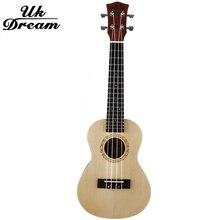 23 Inch 17 Frets Ukulele Arched Mini Acoustic Guitar Spruce Surface Sapele 4 Strings Small Professional ukulele UC-510