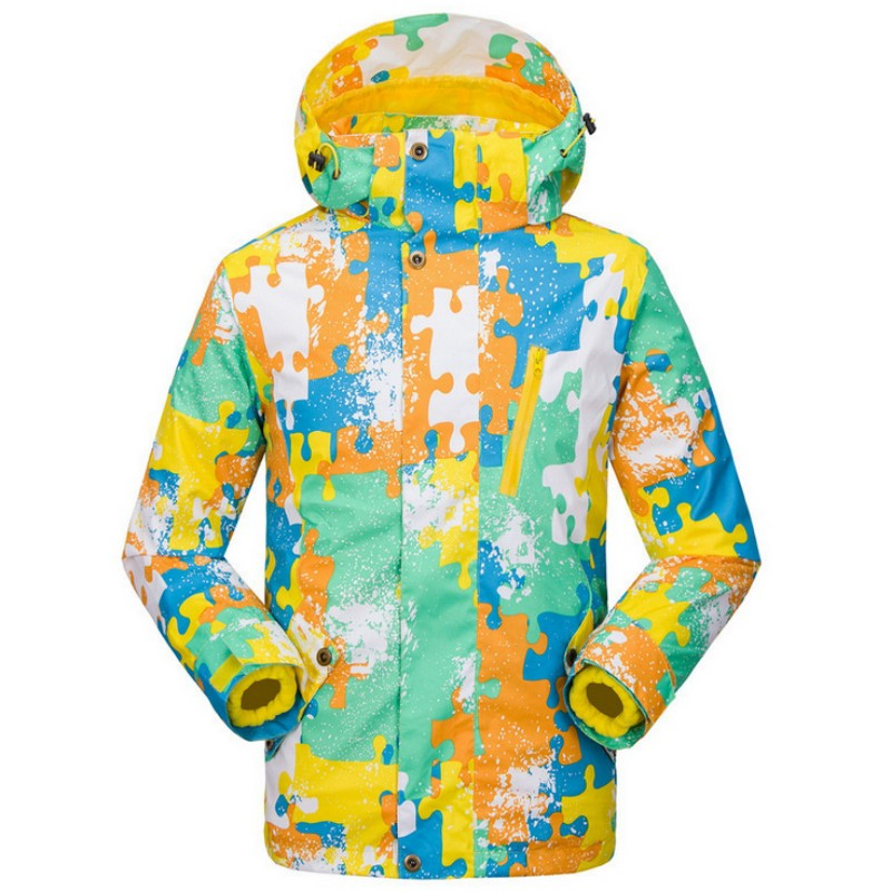 Winter Two Piece Children Camouflage Thermal Snowboarding Jackets Waterproof Skiing Coats Hooded Zipper Outdoor Sport JacketsWinter Two Piece Children Camouflage Thermal Snowboarding Jackets Waterproof Skiing Coats Hooded Zipper Outdoor Sport Jackets