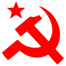 CS-1036#15*15cm star hammer and sickle funny car sticker vinyl decal silver/black for auto stickers styling decoration