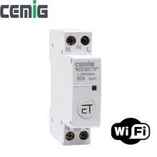 Mini disjoncteur intelligent de WiFi MCB avec l'écho d'amazon de nid de Google et l'app contrôlent à distance le RDCBC-1P de Cemig