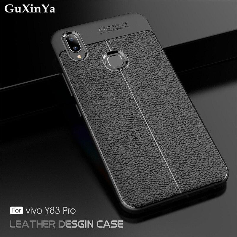 GuXinYa Vivo Y83 Pro Cases BBK Vivo Y83 Pro Phone Cover Luxury Leather ShockProof TPU Protective Case BBK Vivo Y83 Pro Fundas
