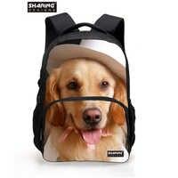 プレッピースタイル子供動物bagpackかわいいパグ犬印刷ランドセルティーンエイジャーの女の子casaulキッズ学生
