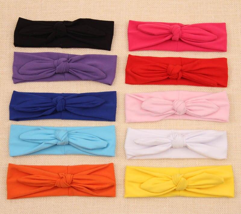 newborn baby girls headband elastic hair head bands wraps rabbit bunny ears headbands turbante children accessories headwrap new
