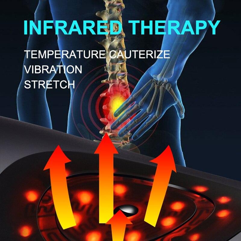 Jinkairui dispositivo de tracción Lumbar eléctrico masajeador de la espalda de la cintura vibración masaje Lumbar apoyo de la columna de la cintura alivio de la fatiga de la cintura-in Masaje y relajación from Belleza y salud    3