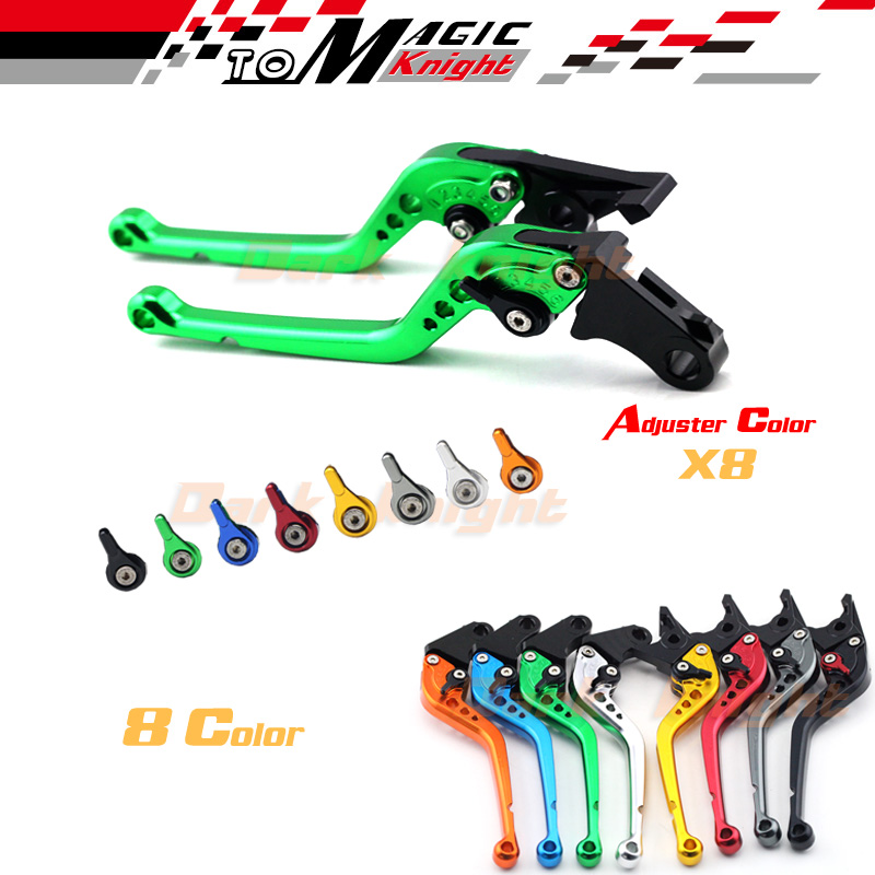 For KAWASAKI ZX6R NINJA650R ZZR600 ZX-9R Z750S Versys 650 Motorcycle CNC Billet Aluminum Long Brake Clutch Levers Green  front shock absorber fork damper oil seal for kawasaki zx600 ninja zx6 90 01 zx 6rr zzr 600 zx636 zx6r kle650 versys motorcycle