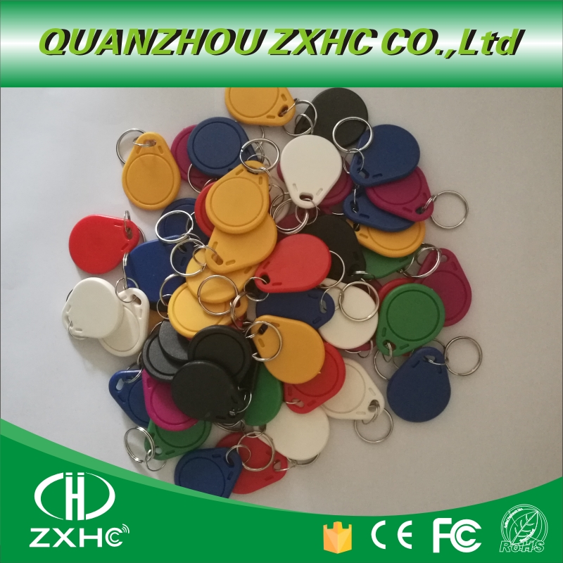 (100PCS) 13.56 Mhz RFID M1 S50 UID Changeable Card Tag Keyfob <font><b>ISO14443A</b></font> Block 0 Sector Writable image