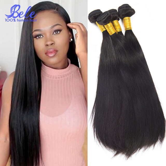 Alibele Hair Silky Straight Virgin Peruvian Straight Hair Weave 3