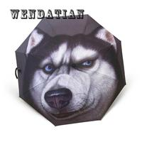 Household Merchandises Rain Gear 3D Printing Dog Sunshade Three folding Umbrellas