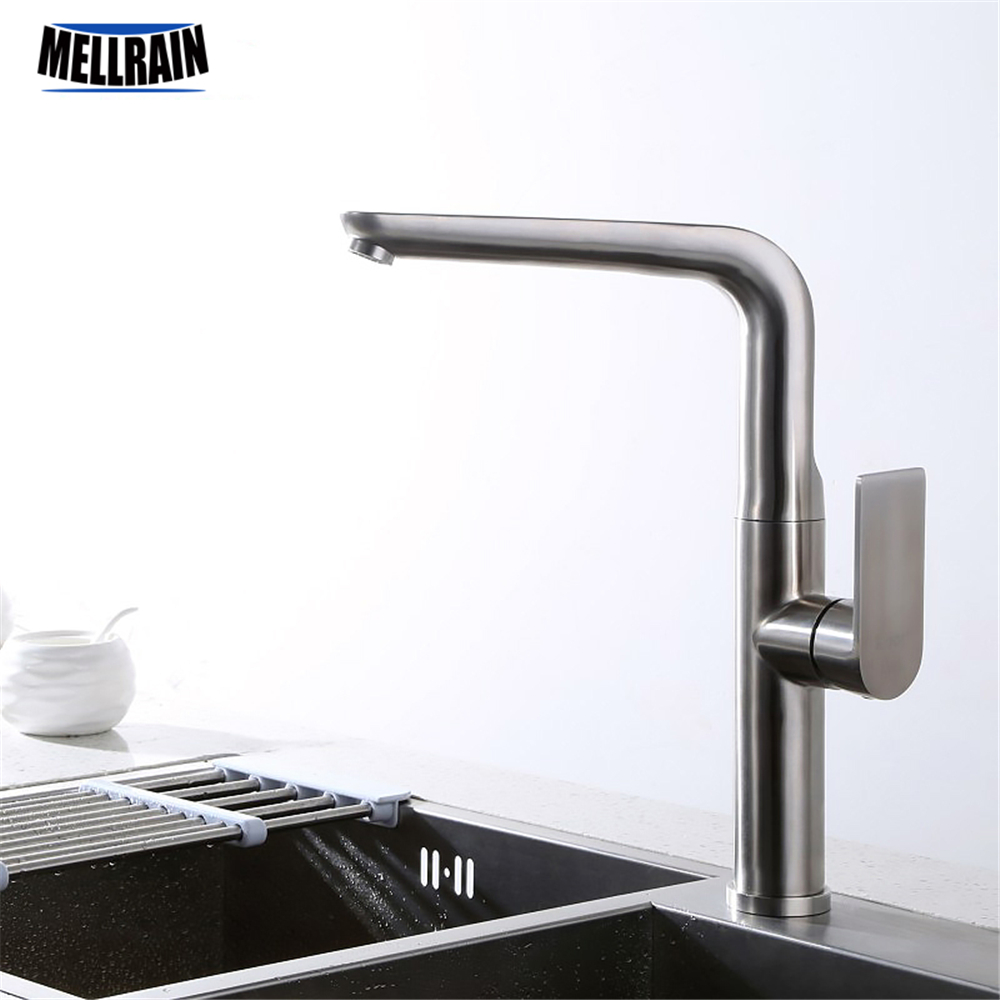 Bathroom and kitchen rotation basin faucet 304 stainless steel material kitchen sink faucet high quality mixer tap цена 2017