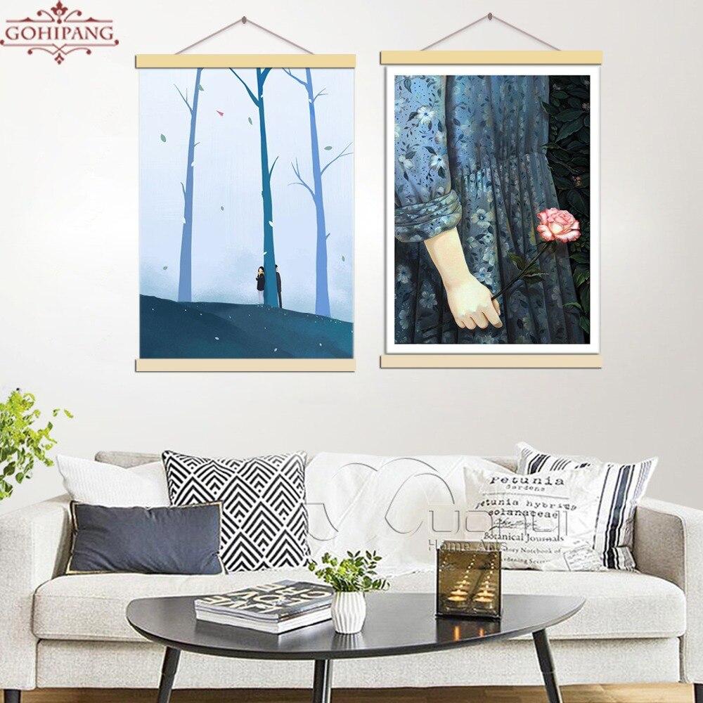 Gohipang Ingelijst Modern Canvas schilderij Poster Poster - Huisdecoratie