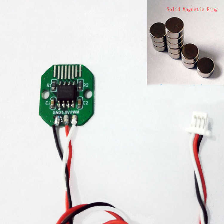 5PCS AS5600 Absolute Value Encoder PWM/I2C Port Precision 12 Bit Brushless  Gimbal Motor Encoder w Hollow/Solid Magnetic Ring