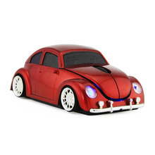 цена на Creative Beetle Car Wireless Computer Mouse For Desktop Laptop Notebook USB Wireless Car Mouse For Computer Mause 2.4G Mice