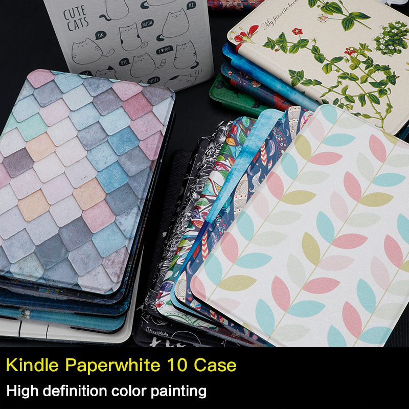 WALNEW Original PU Leather Case For Amazon Kindle Paperwhite 2018 (10 Generation) 6inch E-book Cover Smart Auto Sleep/Wake