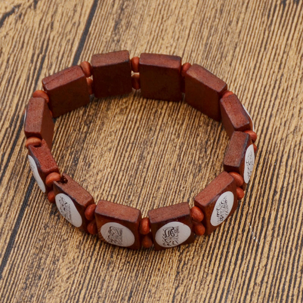 9238b43c043f6 Wood Bead Drop Hand Chain Bracelets 2018 Laadies Unisex Beaded ...