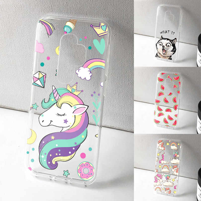 Phone Case For Samsung Galaxy A3 A5 A7 2017 J3 J5 J7 2017 S8 S9 Plus Unicorn Cat Cute TPU Soft Silicone Protective Back Cover