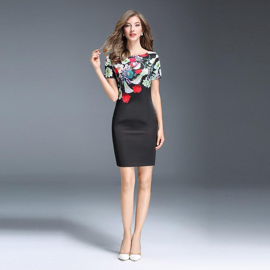 Floral Summer Dress Women Elegant Party Plus Size 2017 Wonder Woman ...