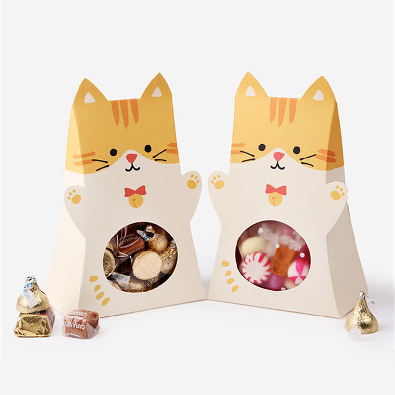 5pcs Animal Paper Candy Box Boy Girl kids Birthday Party Decoration favor Baby Shower Gender Reveal Gift cookie Chocolate Bag
