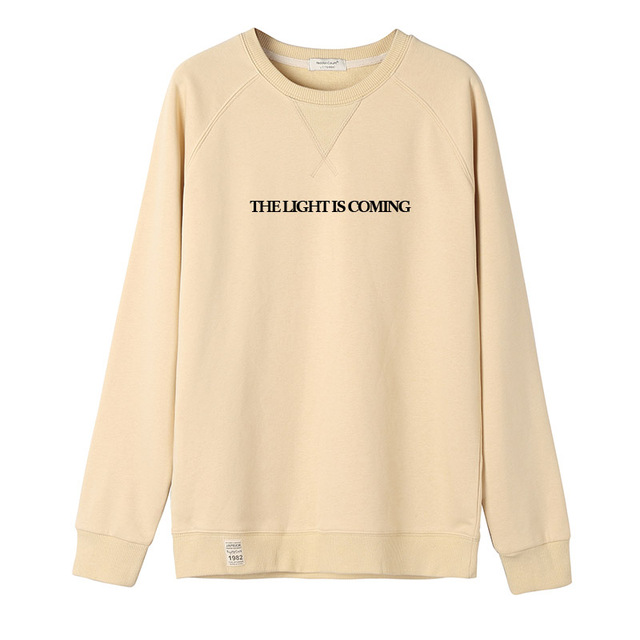 e16544b96bc2 Exclusive 2018 Sweetener THE LIGHT IS COMING Men Women Sweatshirt Hip Hop  Coffee Brown Army Tracksuit 100% Cotton #V9V2M