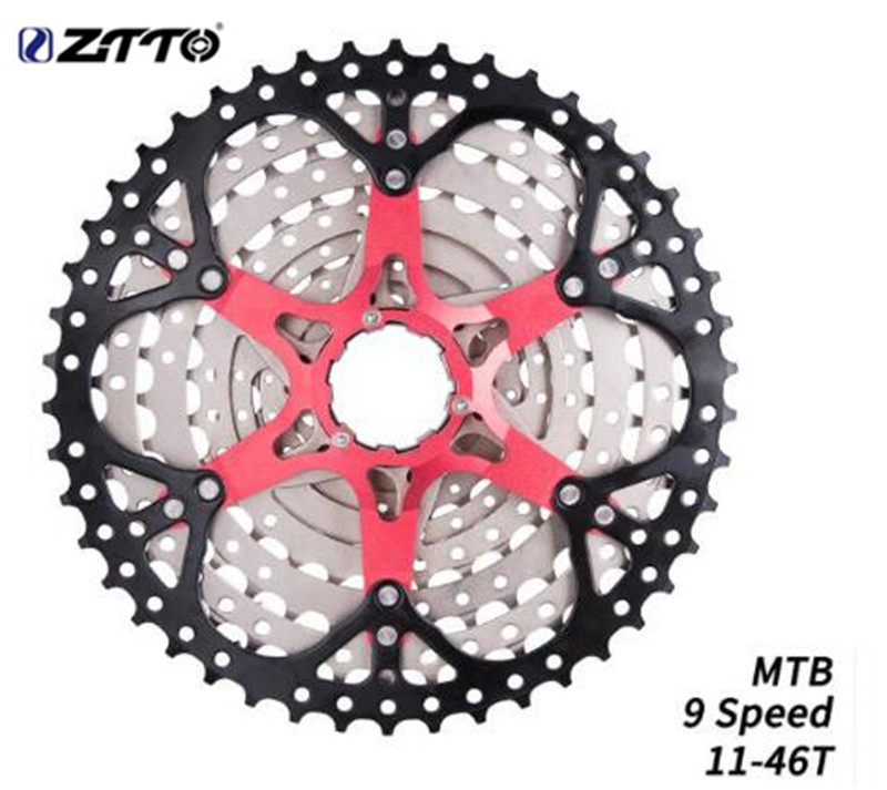 ZTTO MTB Mountain Bike 9 Speed 11-46T Cassette 9 speed 9s Sprockets 9v k7 Bike Parts Ratios Compatible With M430 M4000 M590ZTTO MTB Mountain Bike 9 Speed 11-46T Cassette 9 speed 9s Sprockets 9v k7 Bike Parts Ratios Compatible With M430 M4000 M590