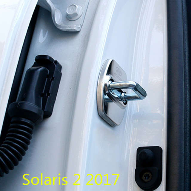 Car Door Lock Key Cover For Solaris 2 Latch Stop Anti Rust