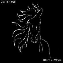 ZOTOONE Artesanato Clear Strass Hotfix Rhinestone Applique for Clothes Decoration Needlework Cyrkonie Necklace Rhinestones Glass