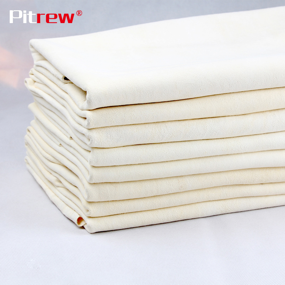PITREW Drying Cleaning Towel Natural Genuine Leather Chamois Shammy Sponge Cloth Sheepskin Absorbent Towel Car Washing