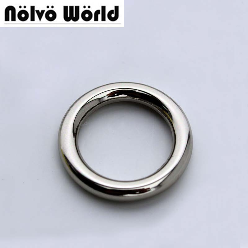 Welded Circle Ring 4.0mm line 3/4 inch 20mm polished silver alloy metal round ring for bag parts accessories 60PCS metal ring holder for smartphones silver