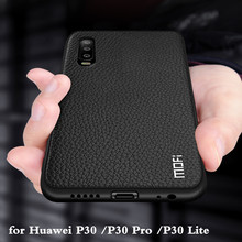 For Huawei P30 Case for P30 Pro Cover P30 Lite Housing Nova 4E Coque Silicone PU Leather Back TPU MOFi Original Ascend