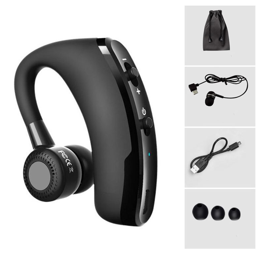 V9 Wireless Voice Control Music Sports Bluetooth Handsfree earbud Earphone Bluetooth Headset Headphones Noise Cancelling Headset