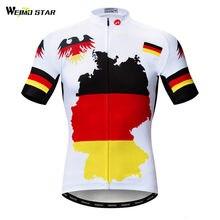 2dd1d1045e5c2 Weimostar Alemanha Equipe Pro Camisa de Ciclismo MTB Bicicleta Manga Curta  Camisa de Verão Mountain Bike