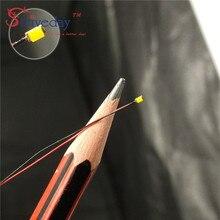 10 pcs/lot 1206 SMD Pre-soldered micro litz wired LED leads resistor 20 cm 8-12 V Model DIY