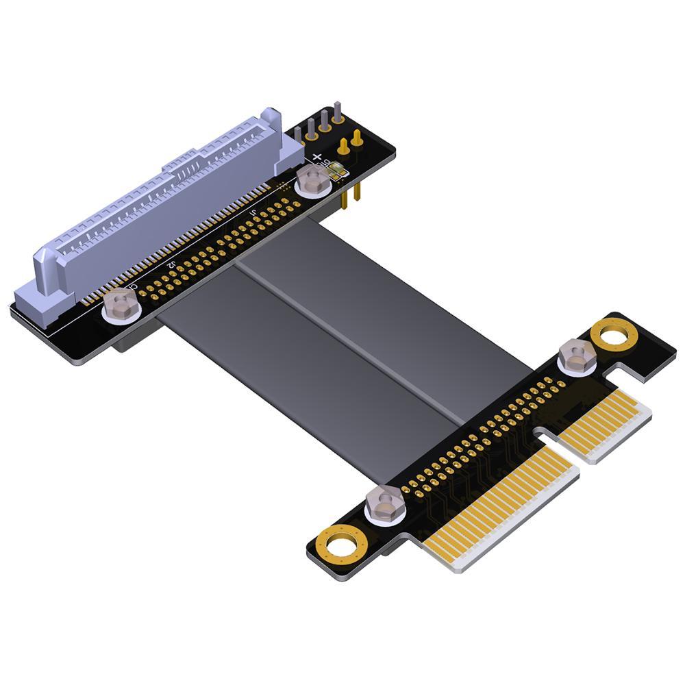 Interface U.2 U2 vers PCI-E 3.0x4 SFF-8639 NVMe carte d'extension de transfert de données câble Gen3.0 PCIe x4 pour adaptateur SSD U.2 NVME