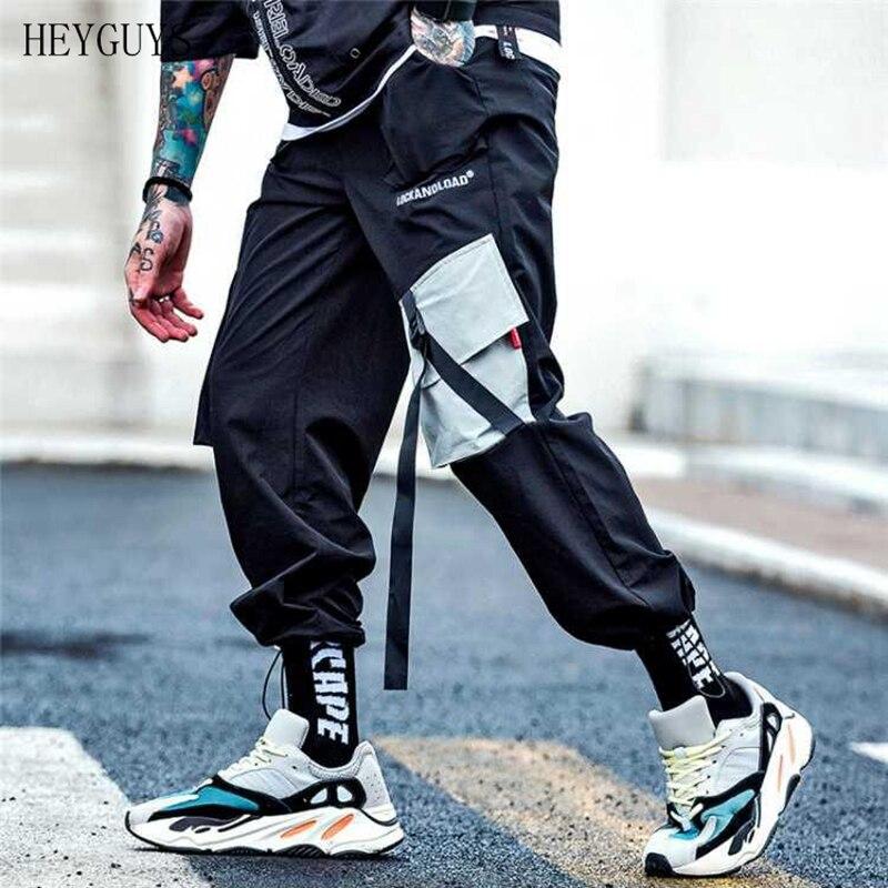 HEYGUYS Fashion Pants Pocket Streetwear Jogging Men's Casual Hip-Hop Harajuku Loose Goods