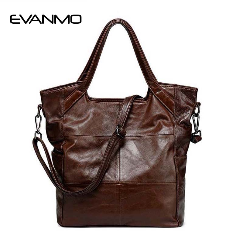 European And American Style New Ladies Bag Classic Fashion Women Handbag Genuine Leather Shoulder Bag Female Brown Messenger Bag female messenger bag lingge chain shoulder bag 2016 new european and american fashion pu leather wm0079