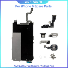 Mobile Phone LCD Spare Parts for iPhone 6 6G with Home Button+Ear Speaker+Front Camera+Flex Full Set of Details for Apple iPhone