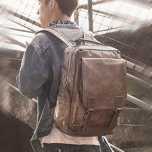 Image 4 - Nowy luksusowy plecak szkolny wodoodporny skórzany plecak na laptopa mężczyźni podróż nastoletni uczeń plecak torba mężczyzna Bagpack Mochila