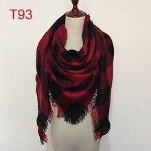 Женский шарф, высокое качество, тартан, шарф, палантин, клетчатый шарф, треугольник, уютное Клетчатое одеяло, негабаритный, накидка, шаль, платье, зимний шарф