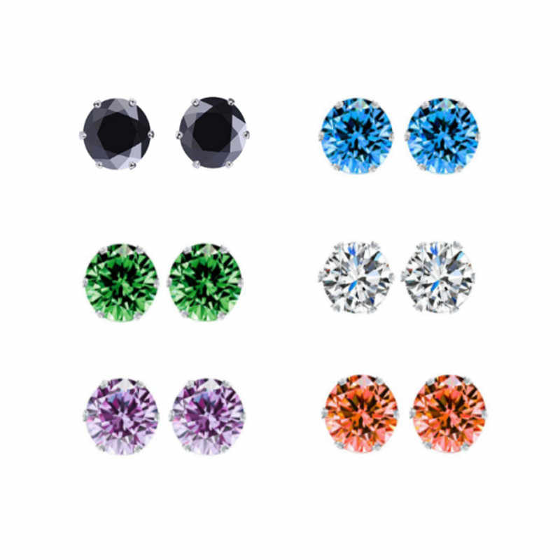 High Quality Crystal Earrings For Women Silver Color Cubic Zirconia Fashion Brand Stud Earring Female Jewelry Wholesale Prices