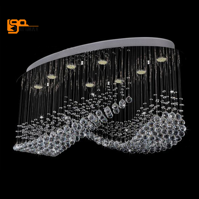 Neue Artikel Große Kronleuchter Beleuchtung Moderne Wohnzimmer Lampen Glanz  Cristal LED Licht Hotel Lobby Kronleuchter