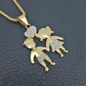 Image 3 - Colares de pingentes de casal, colar dourado para amantes, moda de 2020, meninos, meninas, casal, joias para mulheres, corrente de aço inoxidável
