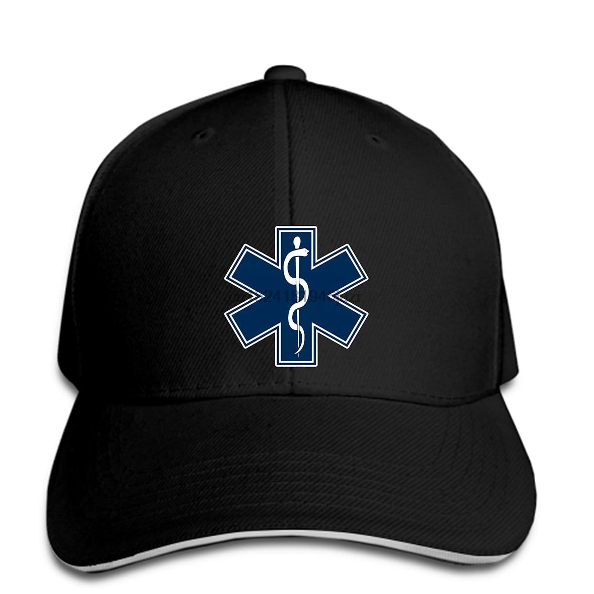 20eedf26b41 hip hop Baseball caps Custom Printed Men Paramedic EMT EMS Star of Life  women snapback-in Baseball Caps from Apparel Accessories on Aliexpress.com