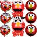 8pcs/lot Sesame Street Elmo balloon foil balloons birhday party supplies children kids globos classic toy birthday party decor