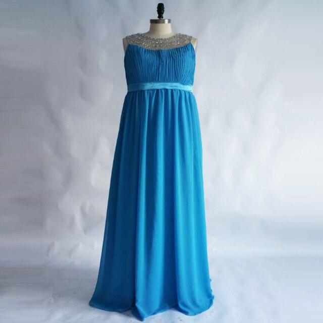 Плюс Размеры Бирюзовый длинные Средства ухода за кожей для будущих мам Вечерние платья для беременных обувь для женщин 2017 г. халат линии Кристаллы Выпускные платья для официальная вечеринка