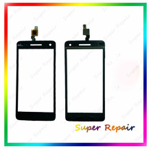 New Touch Screen For Wiko Rainbow S5500 Front Glass Digitizer For Wiko Rainbow Touch Panel Black Color  Free Shipping