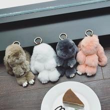 Women bag accessories hanging drop handbag decoration villi Animal dolls for luggage rabbit,bear pendant