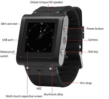 Stainless Steel Bluetooth Waterproof SmartWatch AW9 synchronise IOS,android phone 1.5 inch capacitive touchscreen  free shipping